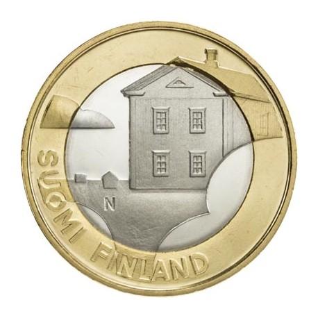 5 EUROS 2013 FINLANDIA OSTROBOTNIA BIMETALLIC UNC Nº23