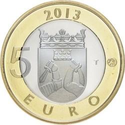 5 EUROS 2013 FINLANDIA KARELIA BIMETALICA SC Nº21