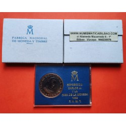 .ESPAÑA 1988 FNMT MEDALLAS CARLOS III BICENTENARIO PESETAS PLATA