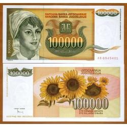 . YUGOSLAVIA 10000 DINARA 1993 Pick 129 MBC BILLETE DINAR