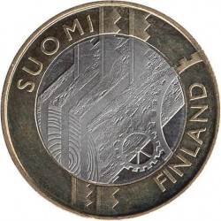 FINLANDIA 5 EUROS 2011 PROVINCIA Nº5 SC UUSIMAA