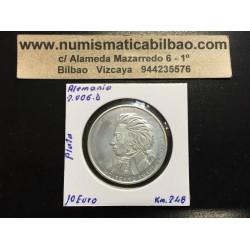 ALEMANIA 10 EUROS 2006 Ceca D MONEDA DE PLATA SC SILVER EURO COIN WOLFGANG AMADEUS MOZART KM.248