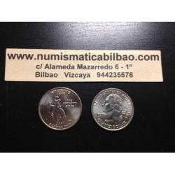 ESTADOS UNIDOS 1/4 DOLAR 25 CENTAVOS 2007 P SC WYOMING