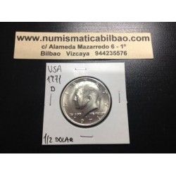 ESTADOS UNIDOS 1/2 DOLAR 1971 D KENNEDY NICKEL SC HALF DOLLAR