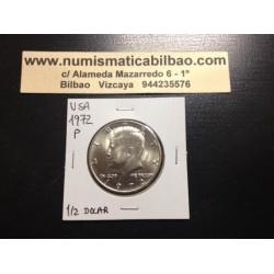 ESTADOS UNIDOS 1/2 DOLAR 1972 P KENNEDY KM.A202B MONEDA DE NICKEL SC USA HALF DOLLAR