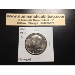 ESTADOS UNIDOS 1/2 DOLAR 1972 D KENNEDY NICKEL SC HALF DOLLAR