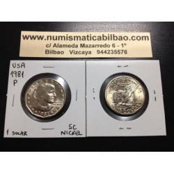 ESTADOS UNIDOS 1 DOLAR 1981 P ANTHONY NICKEL SC DOLLAR US