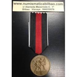 @OFERTA@ ALEMANIA III REICH CONDECORACION NAZI 1 OCTUBRE 1938 BOHEMIA DEPORTES LATON CON CINTA ORIGINAL