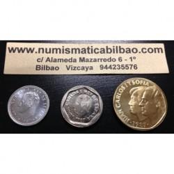 ..ESPAÑA SERIE 1987 : 1+200+500 PESETAS SC JUAN CARLOS I