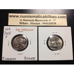 .ESTADOS UNIDOS 5 CENTAVOS 2005 P BUFALO NICKEL SC USA