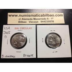 .ESTADOS UNIDOS 5 CENTAVOS 2005 D BUFALO NICKEL SC USA