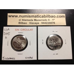 .ESTADOS UNIDOS 5 CENTAVOS 2005 D OCEANO NICKEL SC USA