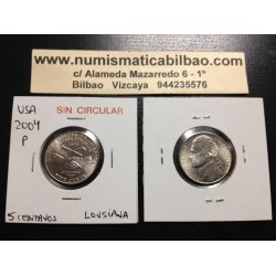 .ESTADOS UNIDOS 5 CENTAVOS 2004 P LOUISIANA NICKEL SC USA