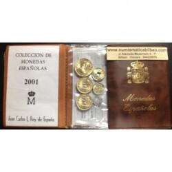 . 2001 ESPAÑA CARTERA SC 1+5+10+25+50+2x100+200+500 PESETAS