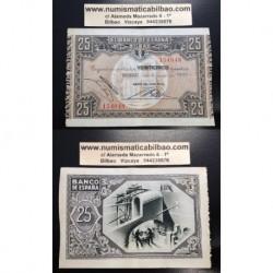 1937 EUSKADI 25 PESETAS BANCO del COMERCIO EBC- 154048 BILBAO