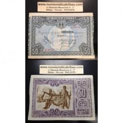 1937 EUSKADI 50 PESETAS BANCO DE BILBAO EBC+ 454379 EUZKADI