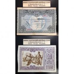 1937 EUSKADI 50 PESETAS BANCO DE BILBAO EBC+ 249844 EUZKADI