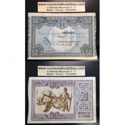 1937 EUSKADI 50 PESETAS MONTE DE PIEDAD EBC 456135 BILBAO