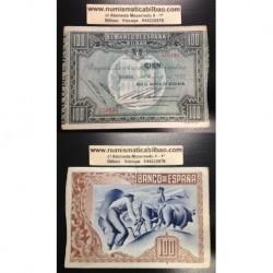 1937 EUSKADI 100 PESETAS BANCO de VIZCAYA EBC+ 576191 BILBAO