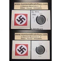 DITTRES REICH GERMANY 10 REICHSPFENNIG 1941 J SWASTIKA NAZI ZINC