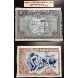 BILBAO EUSKADI 100 PESETAS 1937 BANCO DE BILBAO 082285 BILLETE SC- EUZKADI PICK S.565