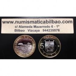 5€ EUROS 2014 FINLANDIA Nº 26 FAUNA PALOMA SIN CIRCULAR