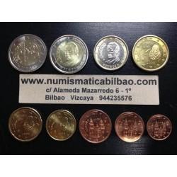 ESPAÑA MONEDAS EURO 2005 SC 1+2+5+10+20+50 Centimos 1 EURO + 2 EUROS + 2 EUROS 2005 QUIJOTE