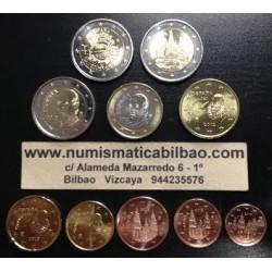 ESPAÑA EUROS 2012 SC 1+2+5+10+20+50 Centimos 1€+2€ +2 monedas 2€