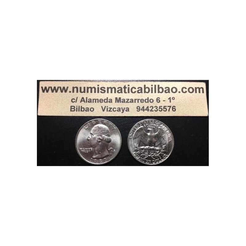 ESTADOS UNIDOS 1/4 DOLAR 1978 D WASHINGTON KM 164 A MONEDA DE NICKEL SC USA  QUARTER 25 CENTAVOS