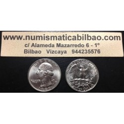 USA 1/4 DOLLAR 1984 D WASHINGTON NICKEL AUNC QUARTER