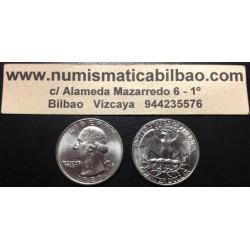 ESTADOS UNIDOS 1/4 DOLAR 1990 D WASHINGTON KM.164 A MONEDA DE NICKEL SC USA QUARTER 25 CENTAVOS