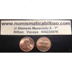 ESTADOS UNIDOS 1 CENTAVO 1998 P LINCOLN KM.201B MONEDA DE COBRE SC USA