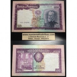 ...PORTUGAL 100 ESCUDOS 19 DICIEMBRE 1961 PEDRO NUNES Serie CQL