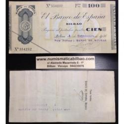 BILBAO 100 PESETAS 1936 BANCO DE BILBAO 554232 EUZKADI EUSKADI