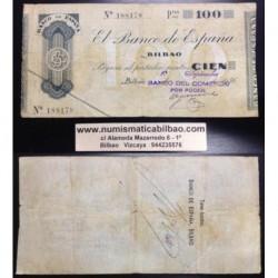 BILBAO 100 PESETAS 1936 BANCO DEL COMERCIO 188178 EUZKADI