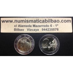 LUXEMBURGO 2 EUROS 2014 ASCENSION AL TRONO SC MONEDA CONMEMORATIVA