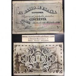 SANTANDER 50 PESETAS 1936 BANCO SANTANDER ESPAÑA 042730