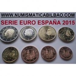 ESPAÑA MONEDAS EURO 2015 SIN CIRCULAR 1+2+5+10+20+50 Centimos 1 EURO + 2 EUROS 2015 REY FELIPE VI @PRIMER AÑO DE EMISION@