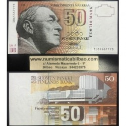 FINLANDIA 50 MARKKAA 1986/1991 AALTO Pick 118 SC FINNLAND