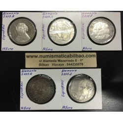 . ALEMANIA 10€ EUROS 2012 A+D+F+G+J NICKEL SC Germany BRD