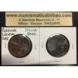 PORTUGAL 2,50 EUROS 2015 UNESCO MUSICA FADO MONEDA DE NICKEL SC