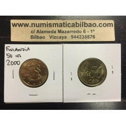 FINLANDIA 50 CENTIMOS 2000 LEON SIN CIRCULAR FINNLAND MONEDA CTS