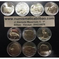 . TURQUIA 1 LIRA 2009/2014/2015 ANIMALES BIMETALICA 10 Monedas