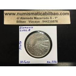 ALEMANIA 10 EUROS 2004 Ceca D MONEDA DE PLATA SC SILVER EURO COIN AGENCIA ESPACIAL COLUMBUS KM.234