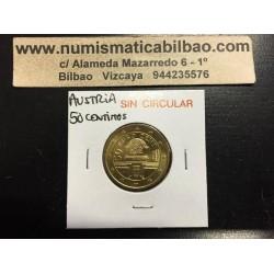 AUSTRIA 50 CENTIMOS 2002 SC MONEDA COIN Osterreich Euro Cts