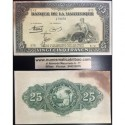 . MARTINICA 25 FRANCOS 1943/1945 Pick 17 UNC Martinique Francs