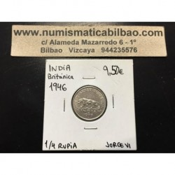 INDIA BRITANICA 1/4 RUPIA 1946 NICKEL EBC KM*548 BRITISH