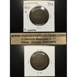 LUXEMBURGO 5 CENTIMOS 1860 KM*22.2 COBRE LUXEMBOURG CENTIMES