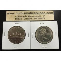 CANADA 1 DOLAR 1980 INDIOS CANOA KM*120.1 NICKEL SC $1 Dollar