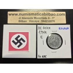 DITTRES REICH GERMANY 10 REICHSPFENNIG 1944 E SWASTIKA NAZI ZINC